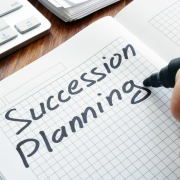 succession planning written down in a notebook