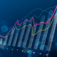 financial KPIs represented on digital graphs and charts